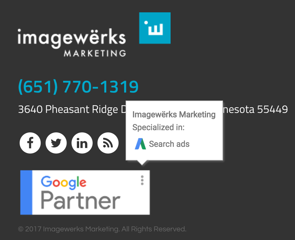 Imagewerks Marketing Google Partner Search Ads Certified
